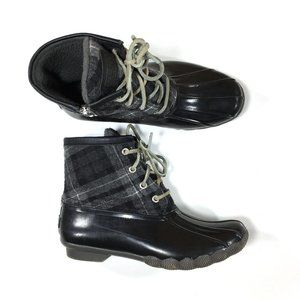 Sperry Saltwater Plaid Duck Boots